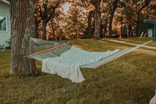 Rope Hammock with Blanket