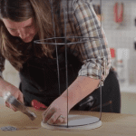 Easy-to-make Tomato Cage Table